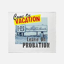 Huntington Beach Vacation Throw Blanket