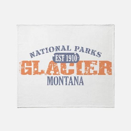 Glacier National Park Montana Throw Blanket