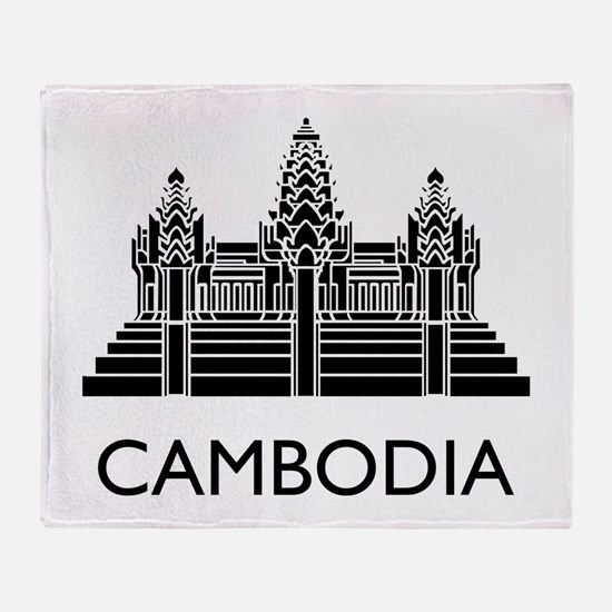 Cambodia Angkor Wat Throw Blanket