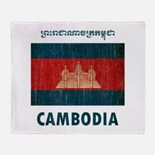 Vintage Cambodia Throw Blanket
