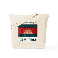 Vintage Cambodia Tote Bag