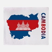 Map Of Cambodia Throw Blanket
