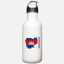 Map Of Cambodia Water Bottle