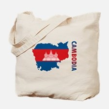 Map Of Cambodia Tote Bag