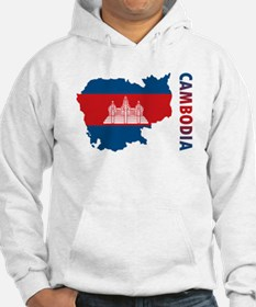 Map Of Cambodia Hoodie