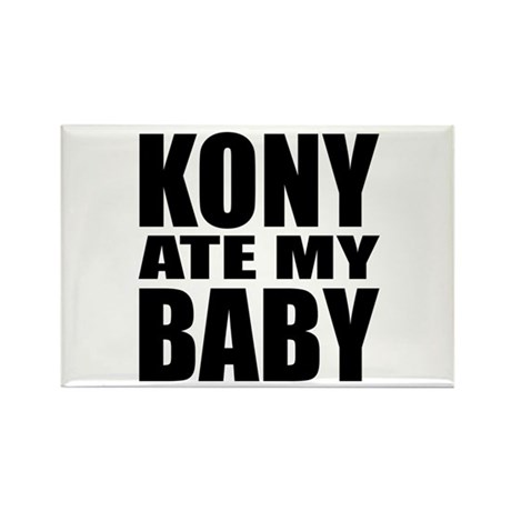 Kony Ate My Baby Rectangle Magnet