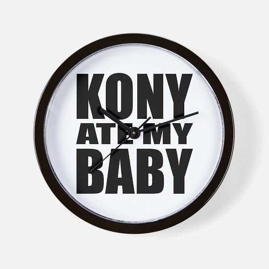 Kony Ate My Baby Wall Clock