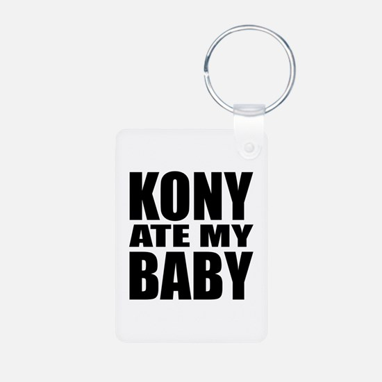 Kony Ate My Baby Aluminum Photo Keychain