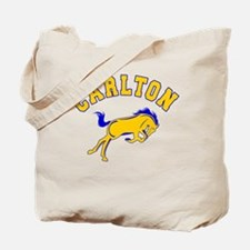 Carlton School Mustangs Tote Bag