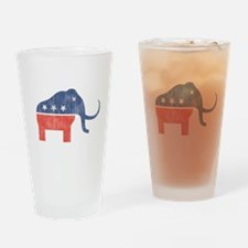 GOP Mammoth Logo Drinking Glass