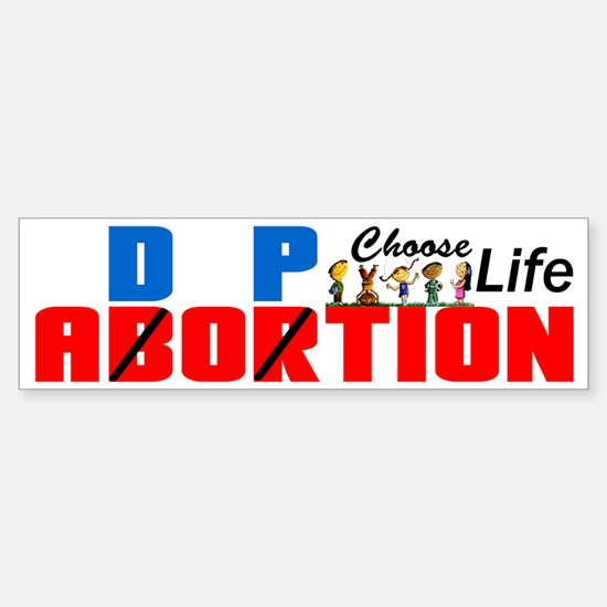"""Adoption: Choose Life!"" Bumper Bumper Sticker"
