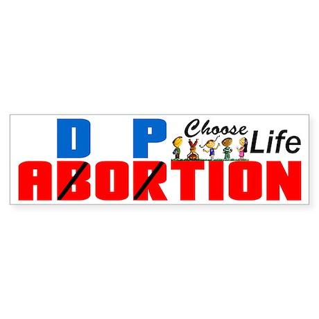 """Adoption: Choose Life!"" Sticker (Bumper"