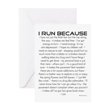 I Run Because- Good Luck Card