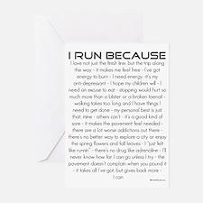 I Run Because Greeting Cards (Pk of 10)
