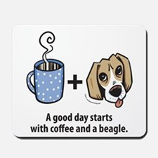 Coffee and a beagle Mousepad