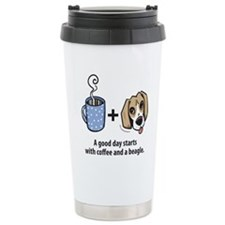 Coffee and a beagle Travel Mug
