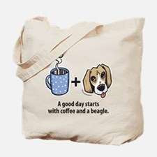 Coffee and a beagle Tote Bag