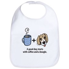 Coffee and a beagle Bib