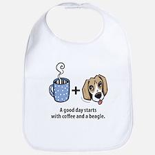 Coffee and a beagle Bib