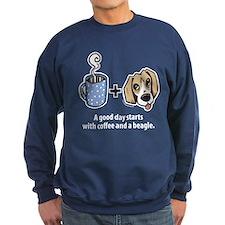 Coffee and a beagle Sweatshirt