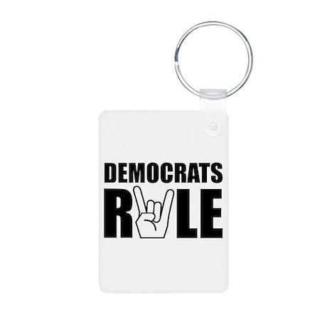 Democrats Rule Aluminum Photo Keychain