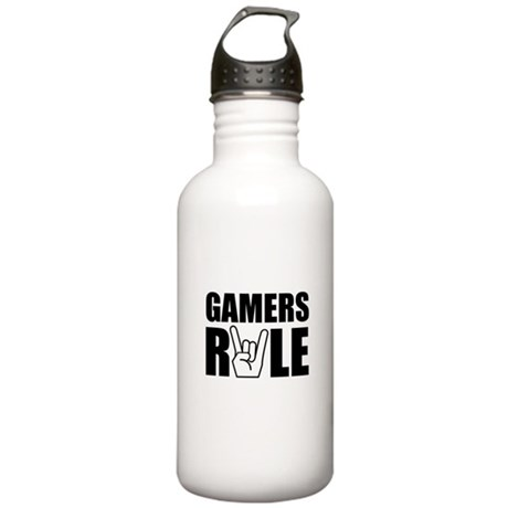 Gamers Rule Stainless Water Bottle 1.0L
