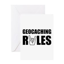 Geocaching Rules Greeting Card