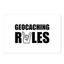 Geocaching Rules Postcards (Package of 8)