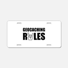 Geocaching Rules Aluminum License Plate