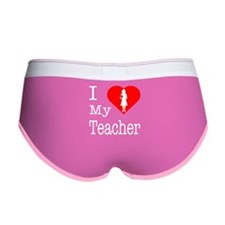 I Love Teachers Women's Boy Brief