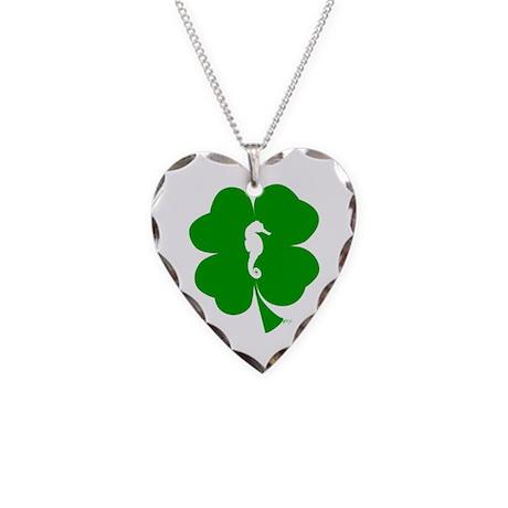 Lucky Seahorse Necklace Heart Charm