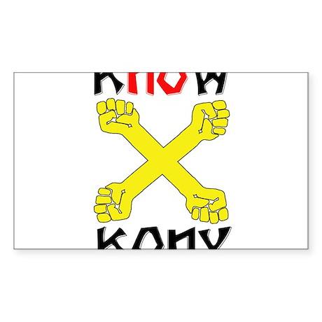 KNOW KONY Sticker (Rectangle)