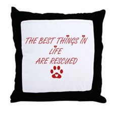 THE BEST THINGS Throw Pillow
