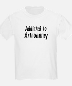 Addicted to Astronomy Kids T-Shirt