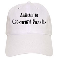 Addicted to Crossword Puzzles Baseball Cap