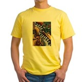 African american Mens Yellow T-shirts