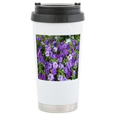 Purple Petunias Travel Coffee Mug