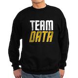 Star trek data Sweatshirt (dark)
