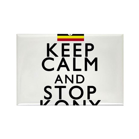 Stay Calm and Stop Kony Rectangle Magnet (100 pack