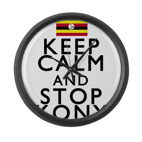 Stay Calm and Stop Kony Large Wall Clock