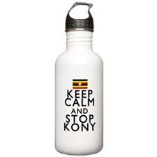 Stay Calm and Stop Kony Water Bottle