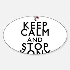 Keep Calm and Stop Kony Sticker (Oval)