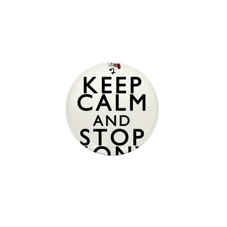 Keep Calm and Stop Kony Mini Button