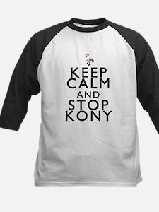 Keep Calm and Stop Kony Kids Baseball Jersey