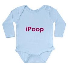 iPoop Long Sleeve Infant Bodysuit