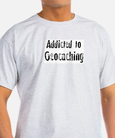 Addicted to Geocaching Ash Grey T-Shirt