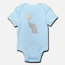 Volleyball Elephant Gift Infant Bodysuit