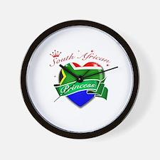 South African Princess Wall Clock