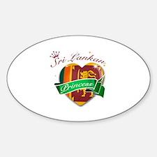 Sri Lankan Princess Sticker (Oval)