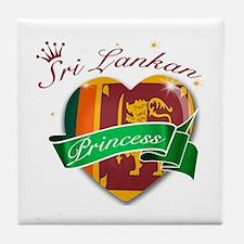 Sri Lankan Princess Tile Coaster